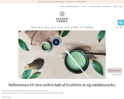kimberfoods.dk website