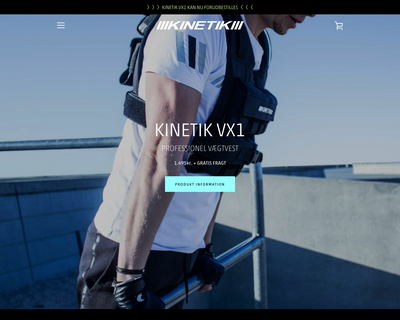 kinetikshop.dk website