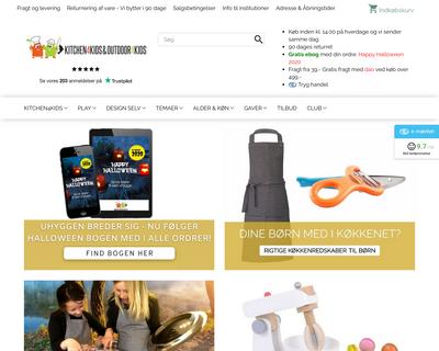 kitchen4kids.dk website