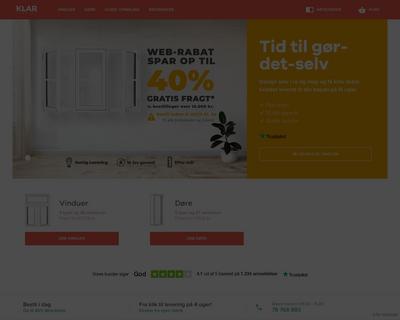 klarvinduer.dk website