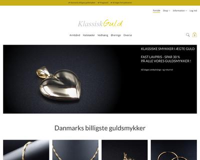 klassiskguld.dk website