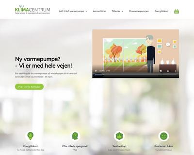 klimacentrum.dk website
