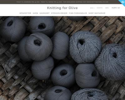 knittingforolive.dk website