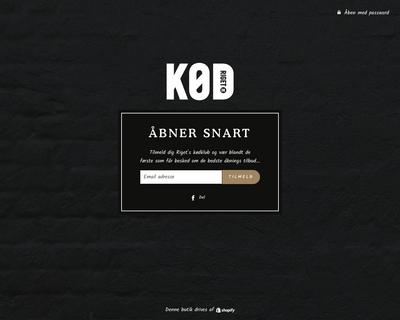 kodriget.dk website