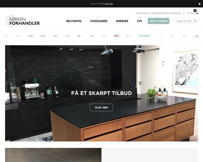 koekkenforhandler.dk website