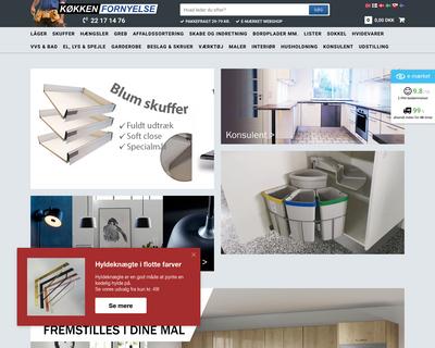 koekkenfornyelse.dk website