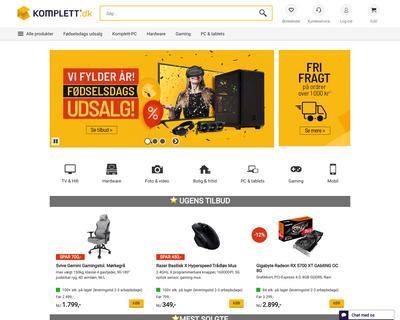 komplett.dk website