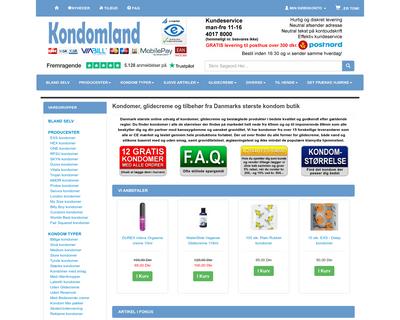 kondomland.dk website