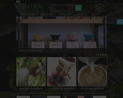 www.kontracoffee.com website