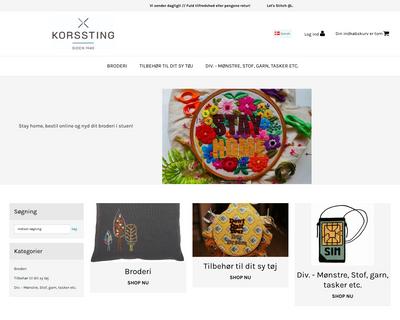korssting.dk website