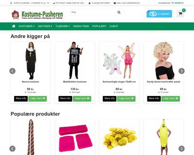 kostume-pusheren.dk website
