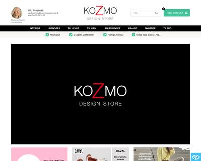 kozmodesignstore.dk website