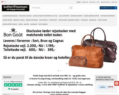 kuffertthomsen.dk website