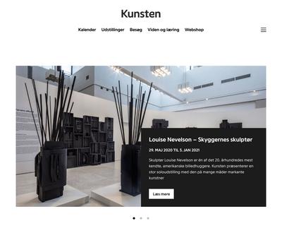 kunsten.dk website