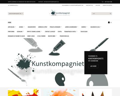 kunstkompagniet.dk website