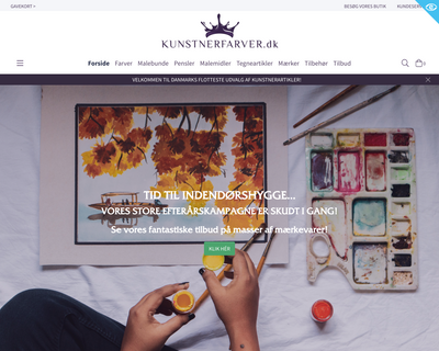 kunstnerfarver.dk website
