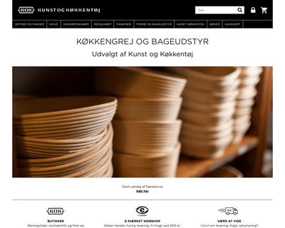 www.kunstogkokkentoj.dk website