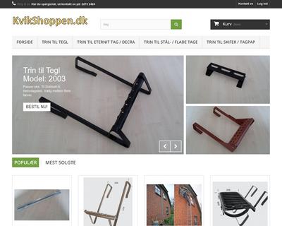 kvikshoppen.dk website