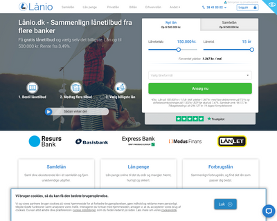 lånio.dk website