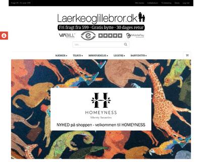 laerkeoglillebror.dk website