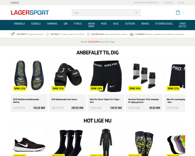 lagersport.dk website