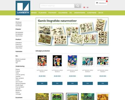lamberth.dk website