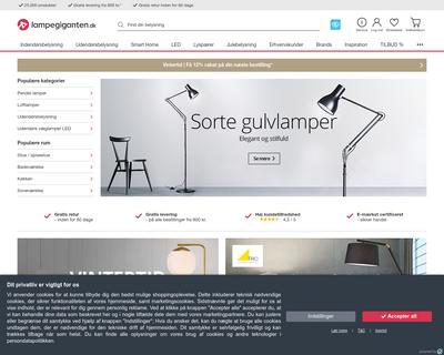 lampegiganten.dk website