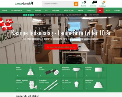 lampeguru.dk website
