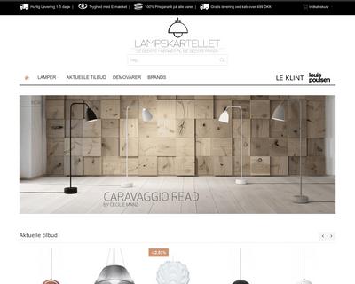 lampekartellet.dk website