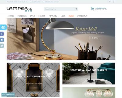 lamper.dk website