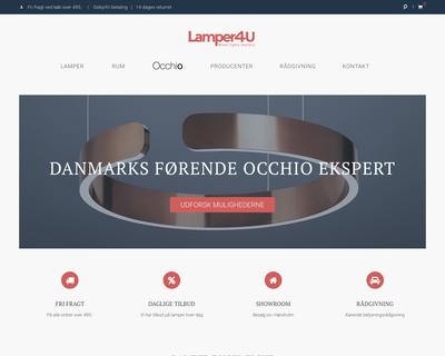 lamper4u.dk website