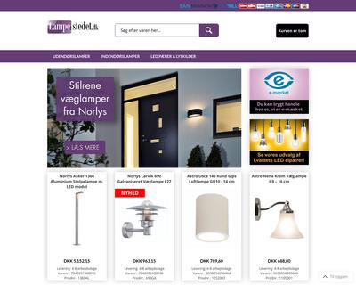 lampestedet.dk website