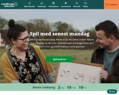 www.landbrugslotteriet.dk website