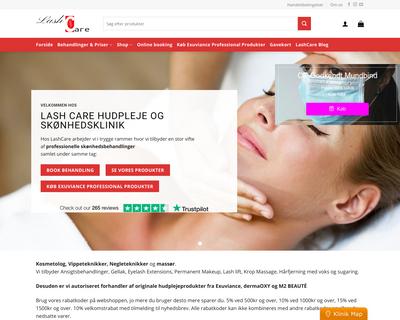 lash-care.dk website