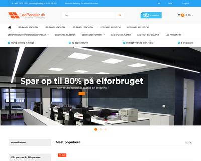 ledpaneler.dk website