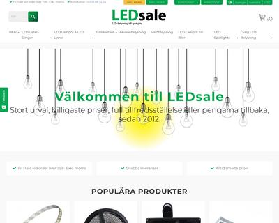 ledsale.dk website