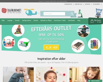 legeakademiet.dk website