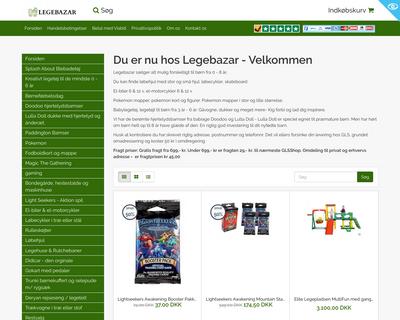 legebazar.dk website