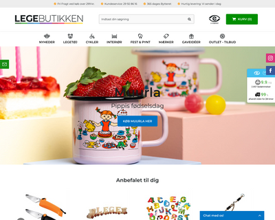 legebutikken.dk website