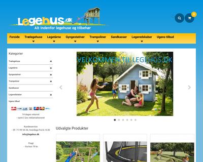 legehus.dk website