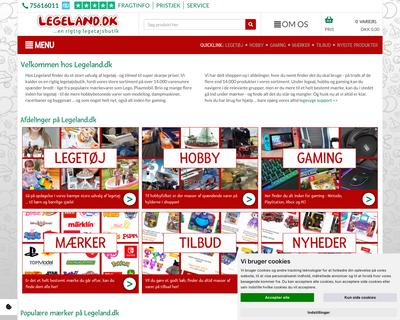 legeland.dk website