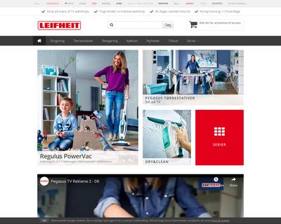 leifheit.dk website