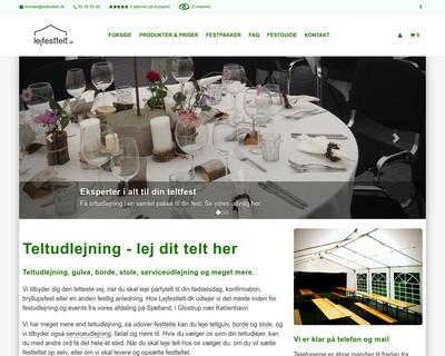 lejfesttelt.dk website