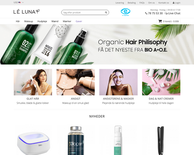leluna.dk website