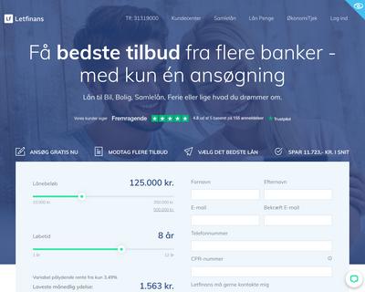 letfinans.dk website