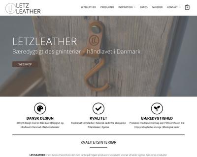 letzleather.dk website