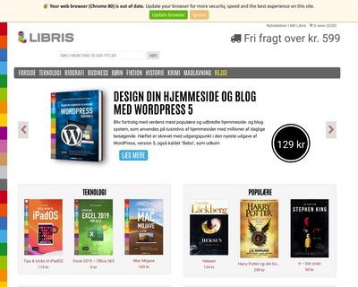 libris.dk website