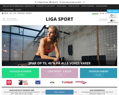ligasport.dk website