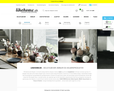 likehome.dk website