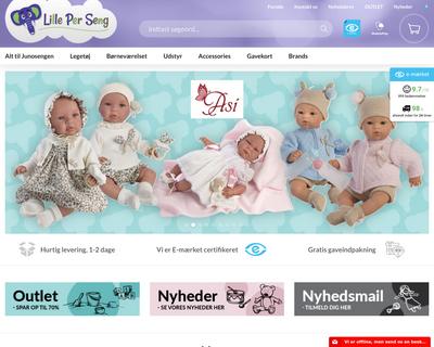 lille-per-seng.dk website